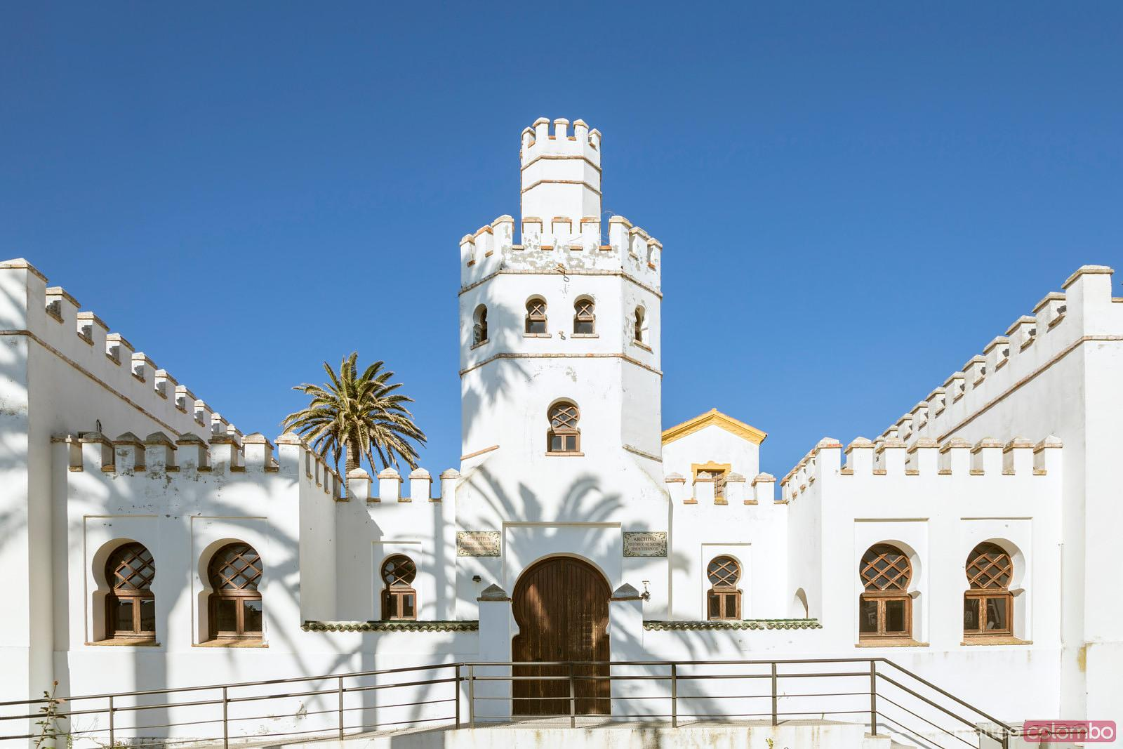 Historical building in the old town of Tarifa, Andalusia, Spain