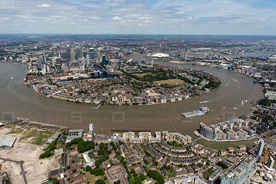 Canary Wharf from Deptford London England