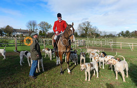 Andrew Osborne at the meet. The Cottesmore Hunt at Tilton