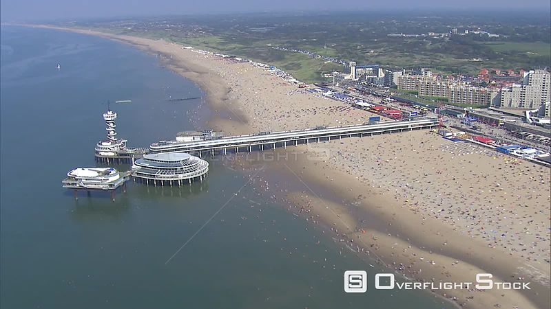 Over the pier at Scheveningen, The Netherlands