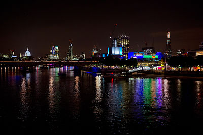 London South Bank at night