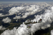Hawker Typhoons diving