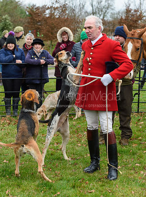 Andrew Osborne At the meet. The Cottesmore Hunt at Bleak House 18/12