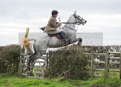 Tom Abel Smith jumping a hedge