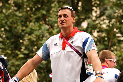 Paralympics GB Rower Nick Beighton on the Athletes Victory Parade Through London