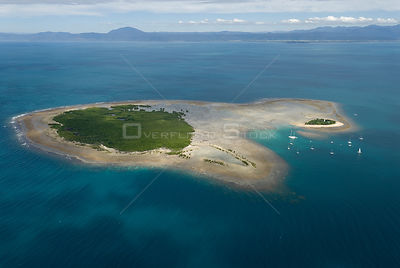 Aerial view of the Low Isles, off Port Douglas, Queensland, Australia