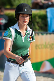 27/07/18, Berlin, Germany, Sport, Equestrian sport Global Jumping Berlin -   Image shows Jessica Sprengsteen. Copyright: Thom...