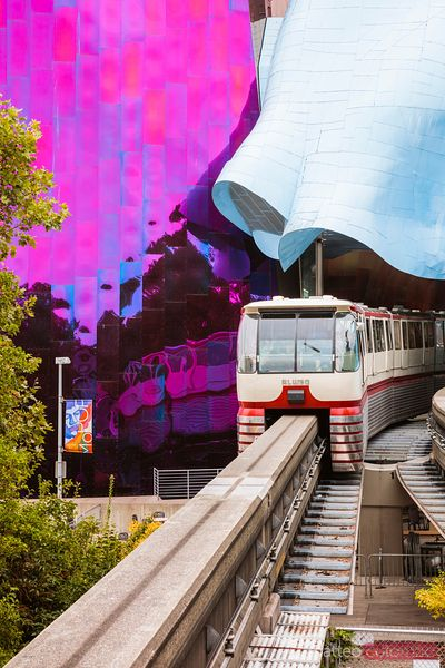Seattle Center Monorail, Seattle, Washington, USA