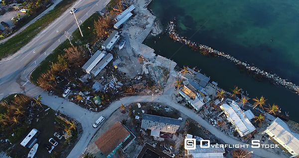 Destruction of a Trailer Park Hurricane Irma Key West Florida
