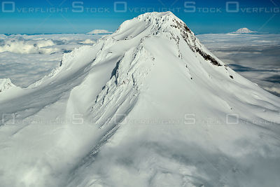 The Rugged Peak of Mount Hood Oregon in Winter