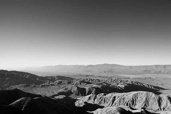 KEYS VIEW JOSHUA TREE NATIONAL PARK BLACK AND WHITE