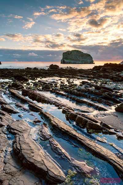 Rocky beach on the Basque country coast, Spain