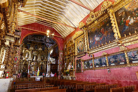Interior of Church of the Immaculate Conception, Checacupe, Cusco Region, Peru