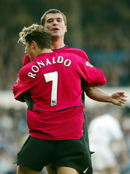 Number 7 Christano Ronaldo in 2003 Leeds v Manchester United Match