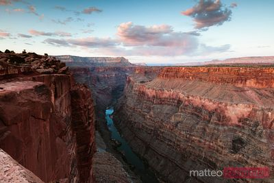 Sunset at Toroweap point, Grand Canyon, USA
