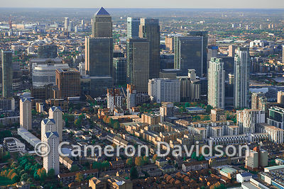 London Aerial Canary Wharf