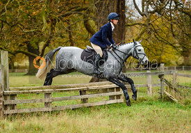 Gemma Redrup jumping a fence near The Kennels.