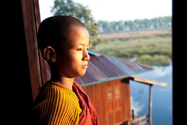 Nahosu novice monk in Myanmar