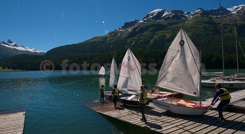 Sailing Lake of St. Moritz photos