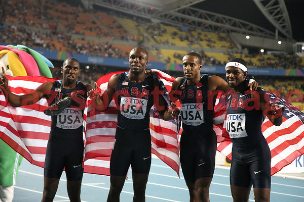 The U.S.A. 4x400m relay team