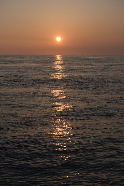 English Channel sunset