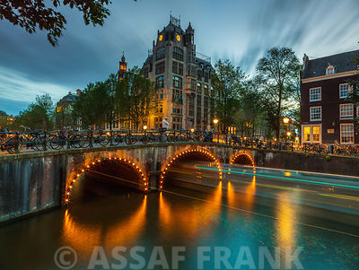 Bridge over canal, Amsterdam