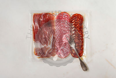 Meat assorti in packaging