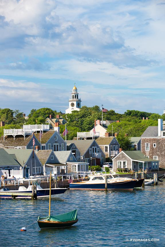 NANTUCKET ISLAND HARBOR COLOR VERTICAL