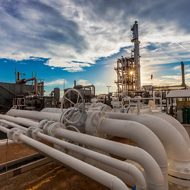 Natural Gas Plants and Midstream Stock Photos