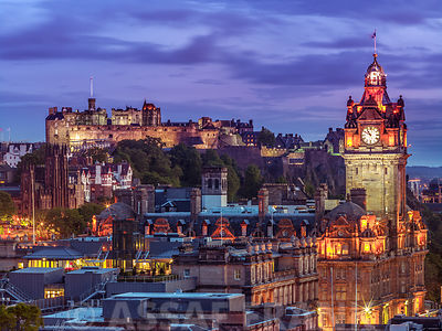 Edinburgh Castle and The Balmoral Hotel, Scotland