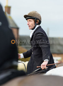 Dominic Gwyn-Jones At the meet. The Belvoir Hunt at Highfield Farm 12/12