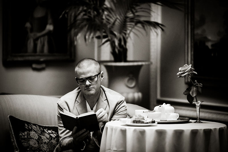 Heston Blumenthal photographed by Gavin Dickson at Weston Park, Shropshire.