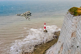 Vulcan passing Beachy Head