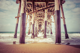 Under the Pier in Orange County California Picture