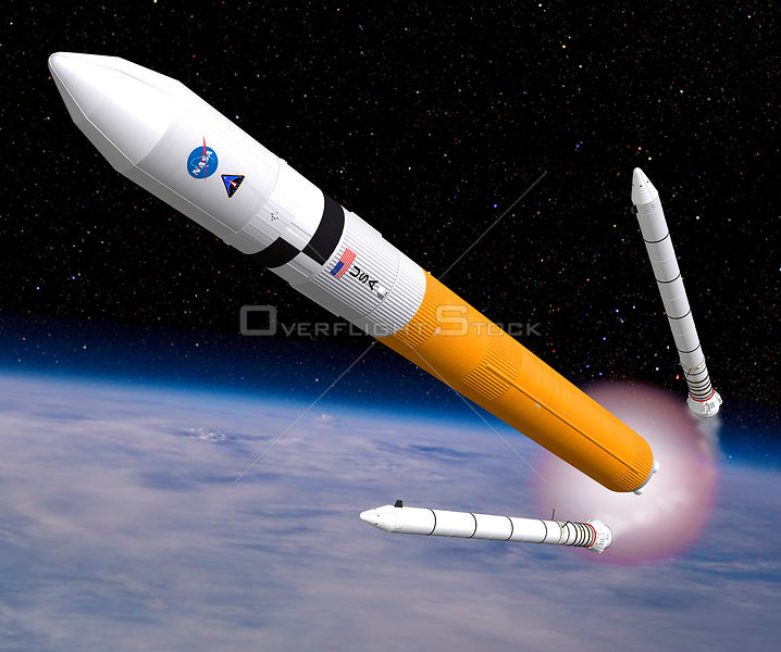 EARTH -- 2009 -- An artist's impression of the new Ares V rocket which will be a big part of the planned Constellation Progra...