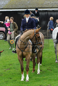 Jo Lambert at the meet - Bedale at Tunstall, Catterick