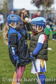 21st April, 2012. Castleknock GFC football nursery, Carpenterstown, Dublin. Pictured is Niamh Andrews (L) and Isaac Lavery.  ...