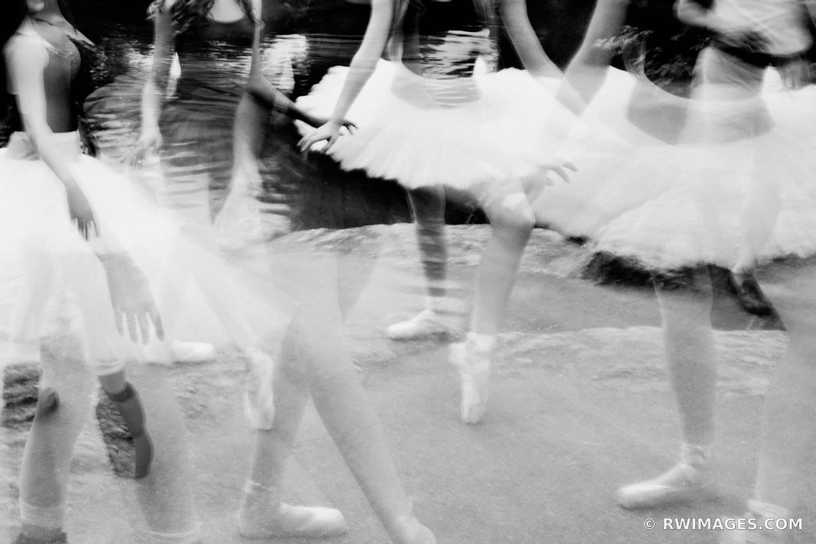 CENTRAL PARK DANCERS MANHATTAN NEW YORK CITY BLACK AND WHITE