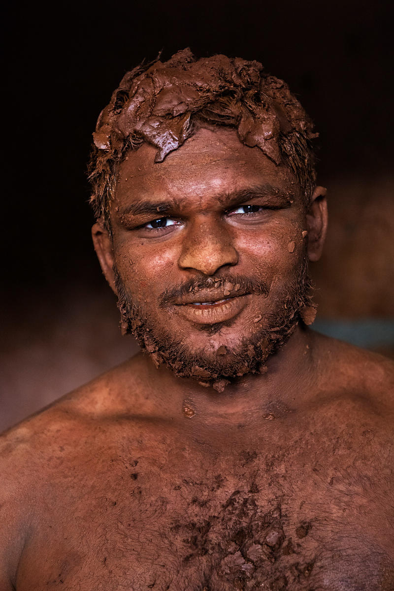 Portrait of a Kusti Wresteler from the Shahji Gungabis Taleem