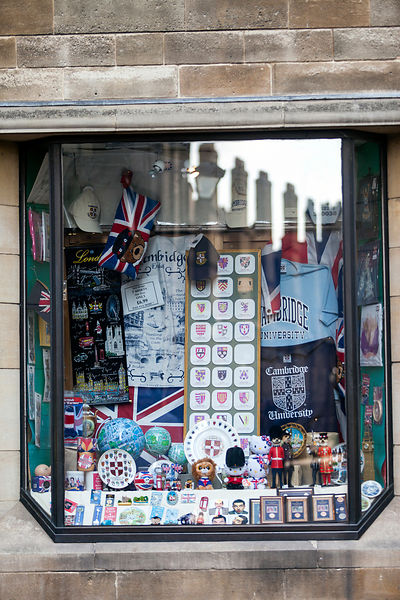 A shop selling Cambridge University souvenirs, King's Parade