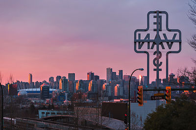 East Van Cross and the Skyline