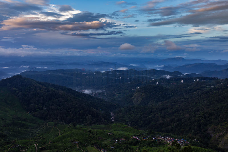 Elevated View of the Nilgiris (Blue Mountains) at Dawn
