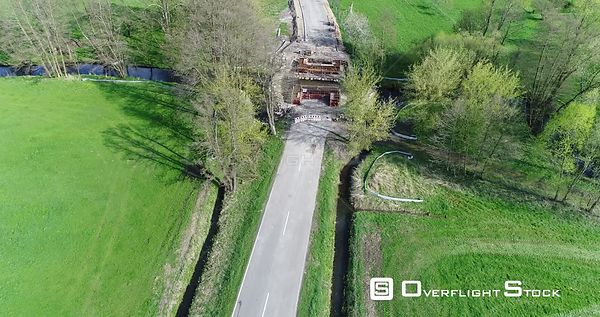 Construction site for the new construction of the road bridge over the river Plane in Ziezow in the federal state of Brandenb...