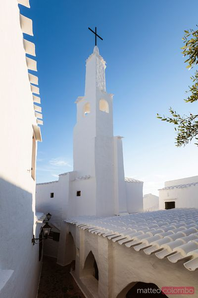 Bell tower, Binibeca Vell, Menorca, Spain