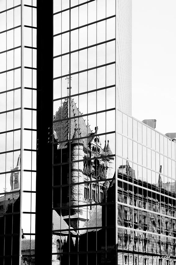 BOSTON DOWNTOWN ARCHITECTURE BLACK AND WHITE VERTICAL
