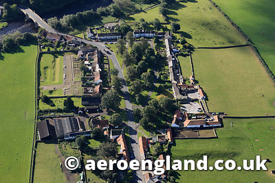 aerial photograph of Piercebridge Roman Fort County Durham, England UK