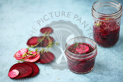 Homemade Pickled Beetroot.