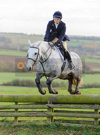 jumping a hunt jump - The Fernie Hunt at Knights Farm 10/11