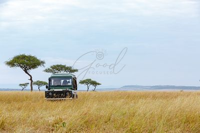 Safari Tour Vehicle in Kenya Grasslands