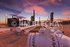 Stock Image of Natural Gas Plant